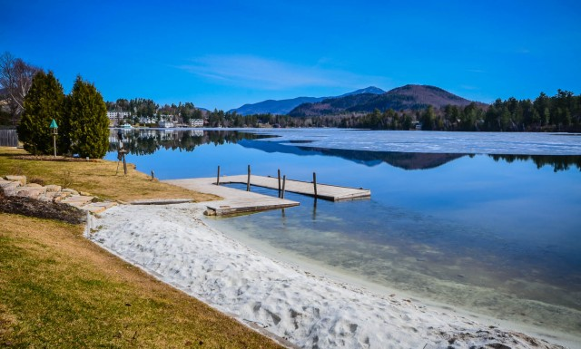 Golden Arrow beach on Mirror Lake. | Lake Placid | New York | Adirondacks