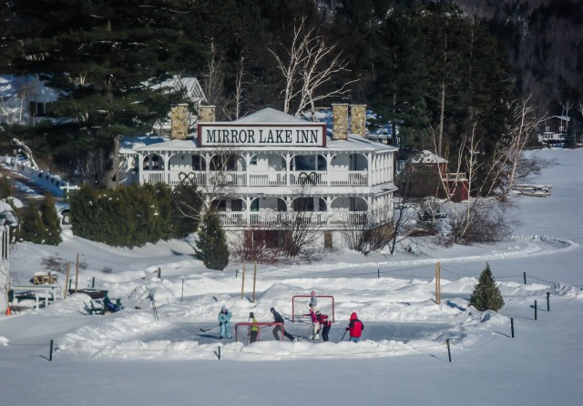 Mirror Lake Inn in Winter