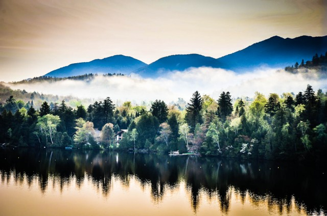 Mirror Lake Reflections | Lake Placid, NY #VisitAdks #Adirondacks @GetawayMavens