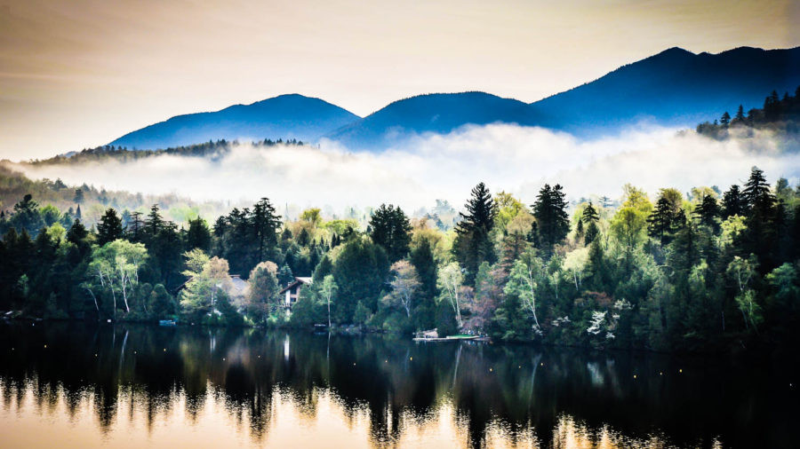Mirror Lake Reflections | Lake Placid, NY