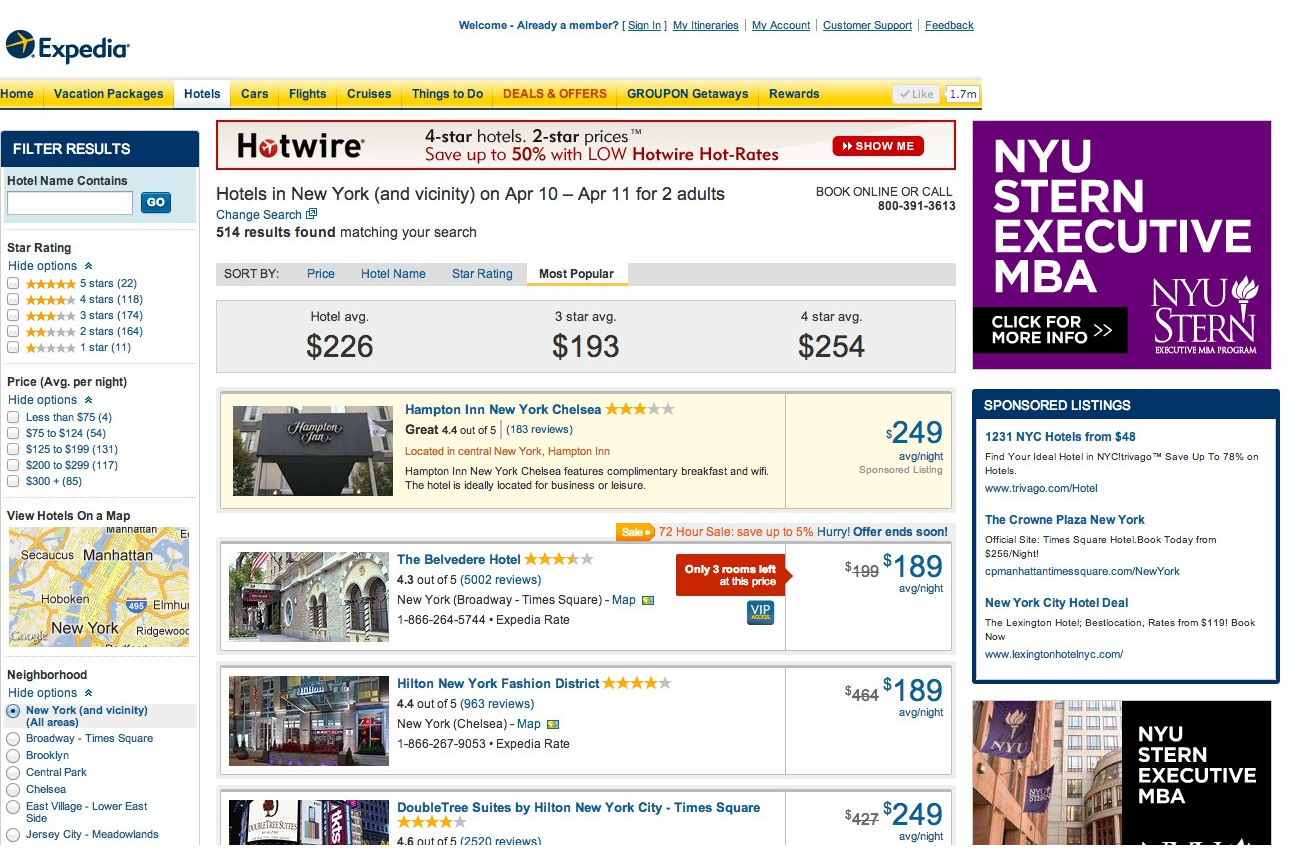 Best hotel booking sites compared getaway mavens for Top site reservation hotel