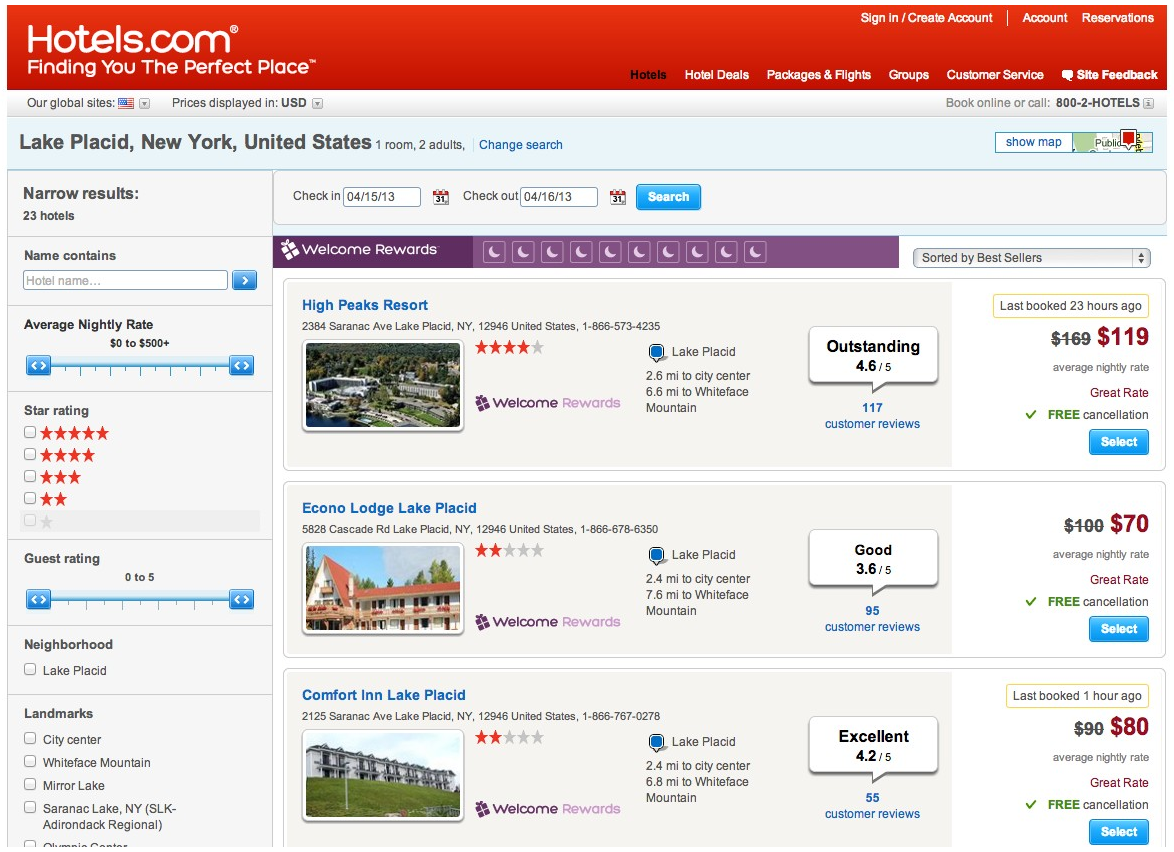 Best hotel booking sites compared for Booking hotels