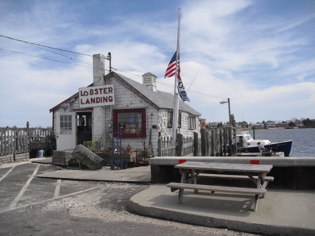 Exterior shot of distressed waterfront shack that serves best lobster roll on East Coast. #seafood #NewEngland @GetawayMavens