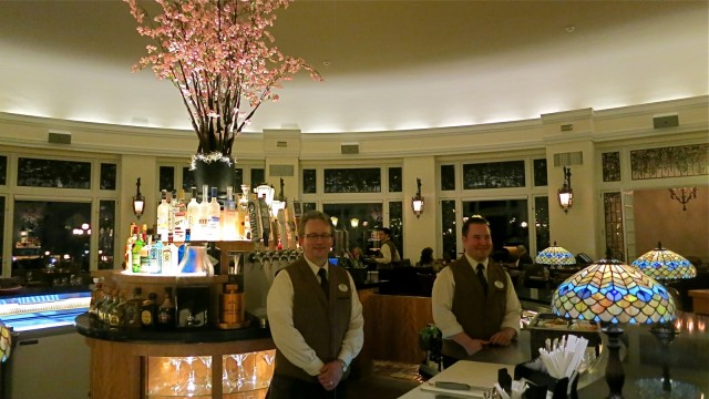 The round bar at the center of updated Hotel Hershey dining room, The Circular