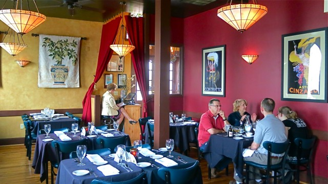 Interior of former church, now Italian Cuisine Victor's of York PA