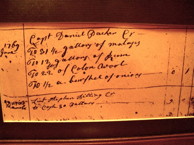 Captain Daniel Packer Tavern Ledger, Mystic CT
