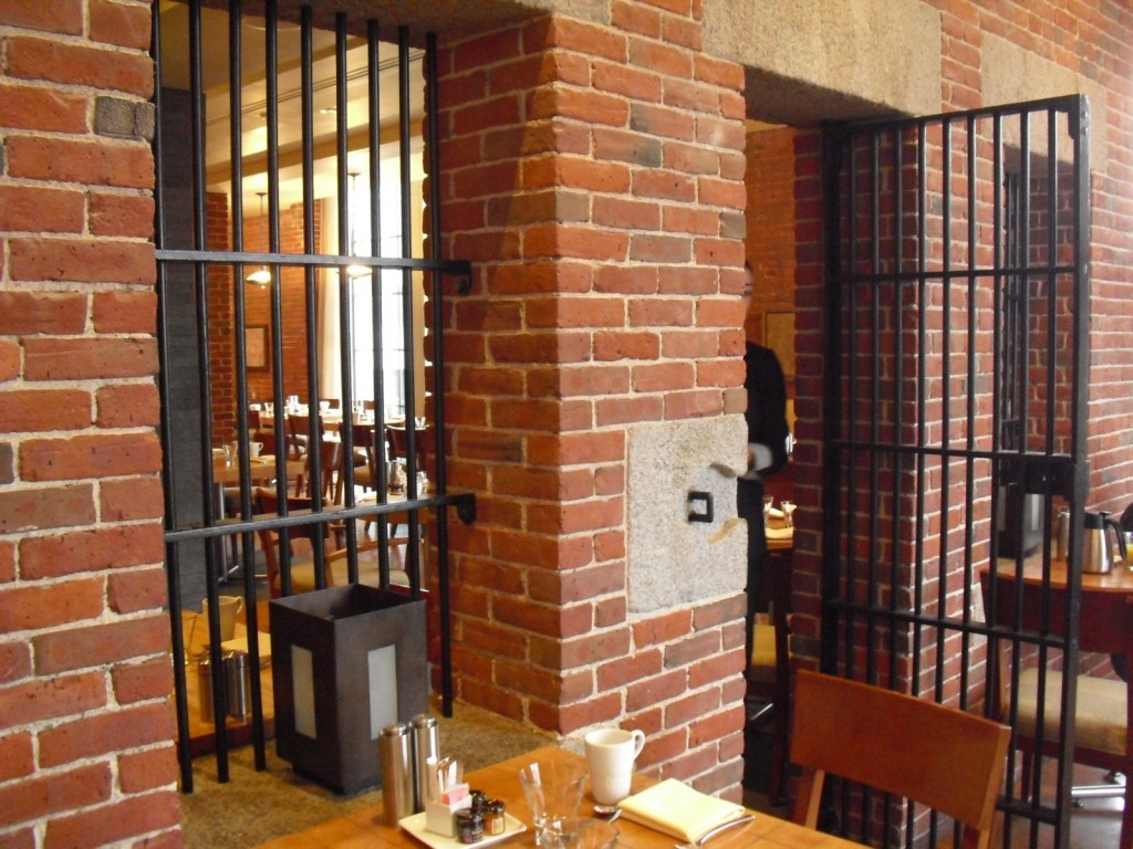 Jail cell restaurant in former Boston Charles Street Jail