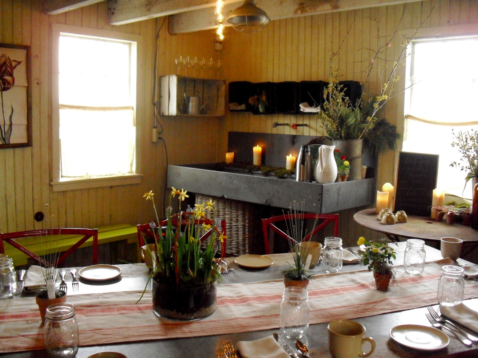 Antique Farmhouse Restaurant Inside Old Mushroom Growing Shack Hut At Terrain Glenn Mills