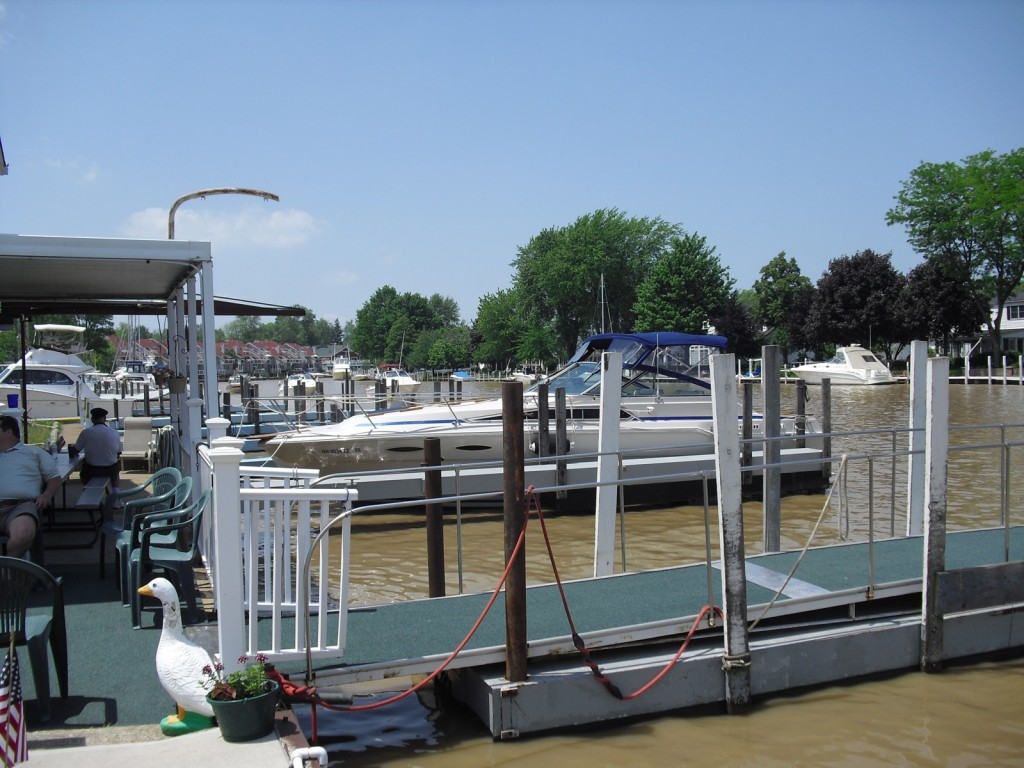 Canals, backyard docks and boats on Lake Erie Town of Vermilion, OH
