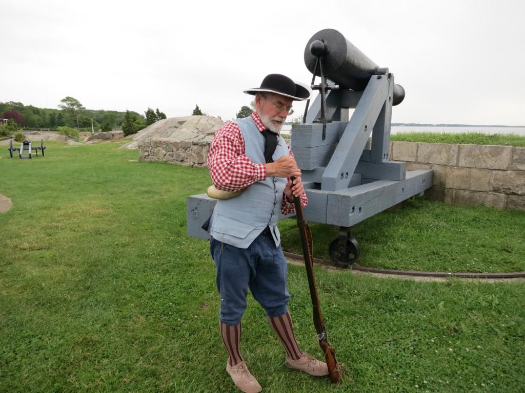 Historian Chris Richard at Fort Phoenix Fairhaven MA
