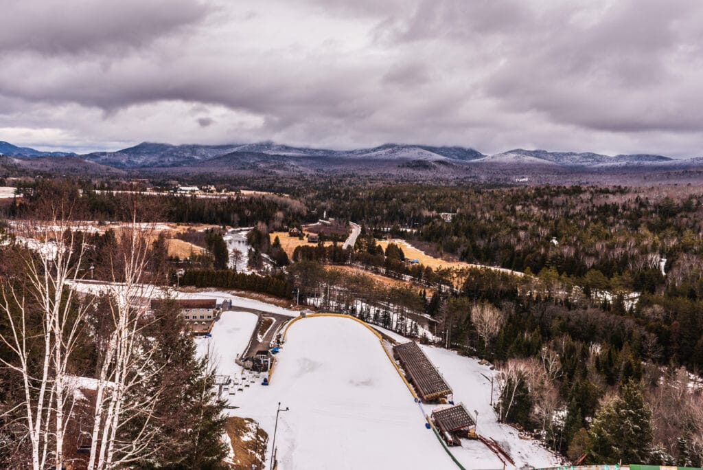 View from Olympic Ski Jump in Lake Placid