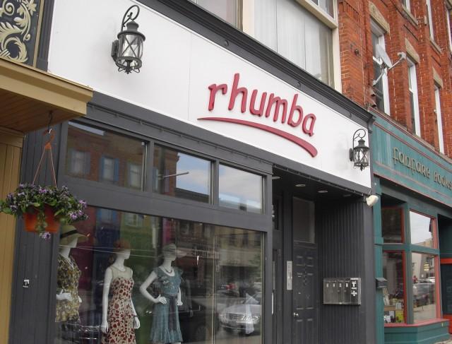 dress shop store front