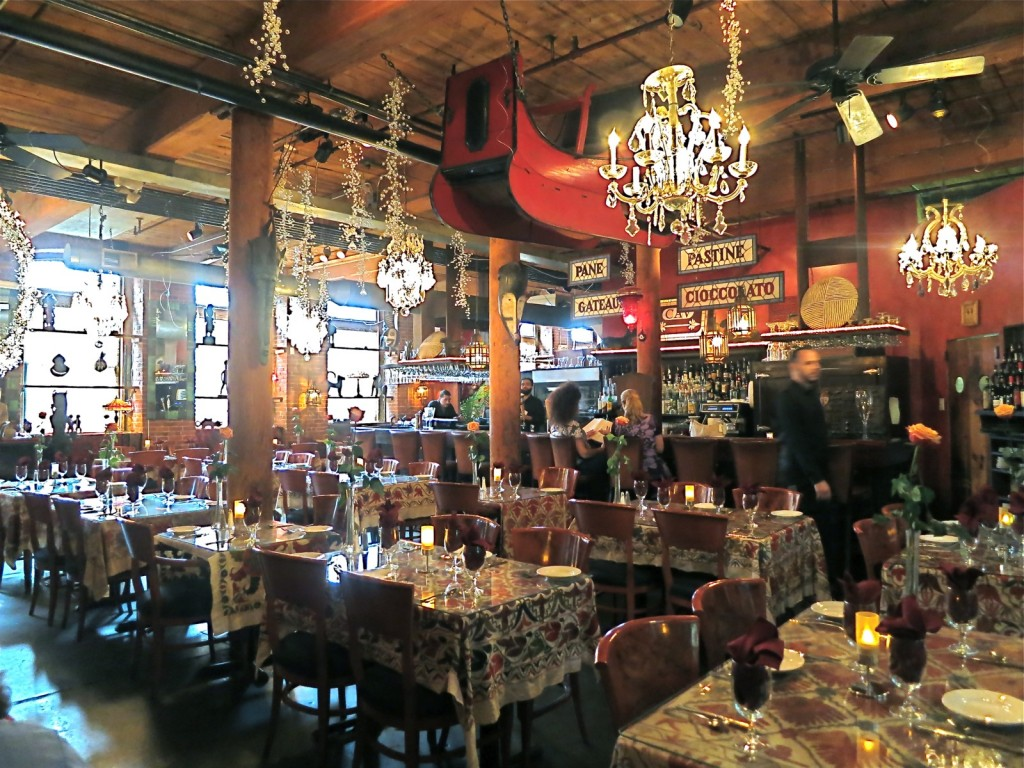 Interior of restaurant that doubles as antique shop, CAV;