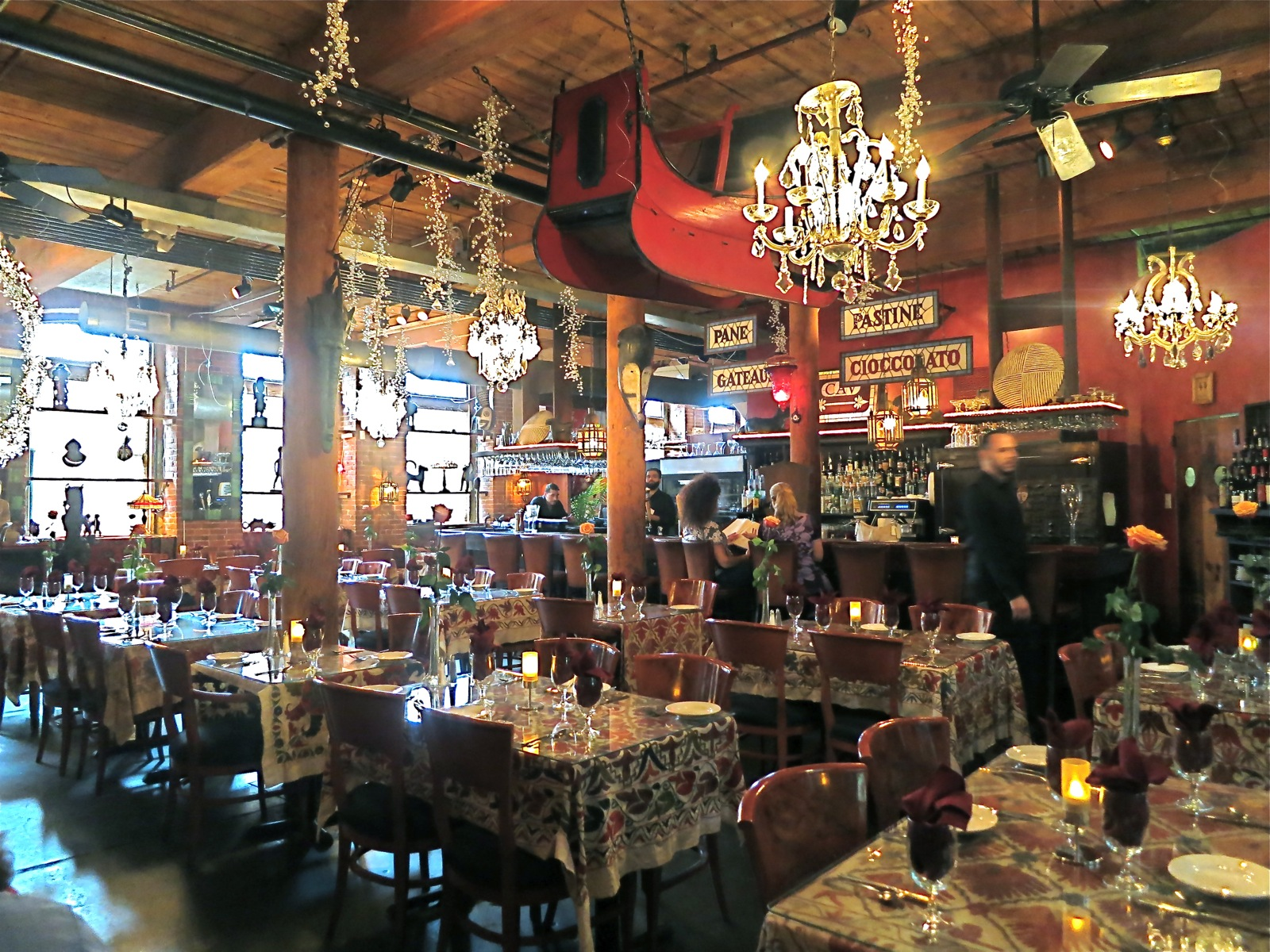 Interior Of Restaurant That Doubles As Antique Cav Providence Ri