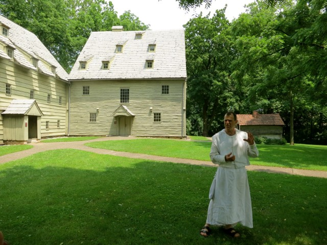 Guided tour of Womens Dorm and Meeting House of Ephrata Cloister in Lancaster County, PA