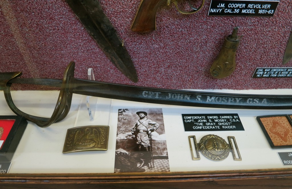 Confederate General John Mosby's Sword, Edged Weaponry Museum, Intercourse PA