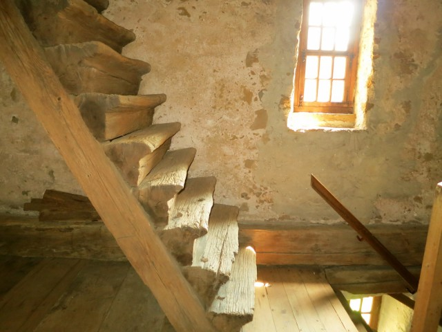 Original 1719 Steps at Hans Herr House in Lancaster County, PA