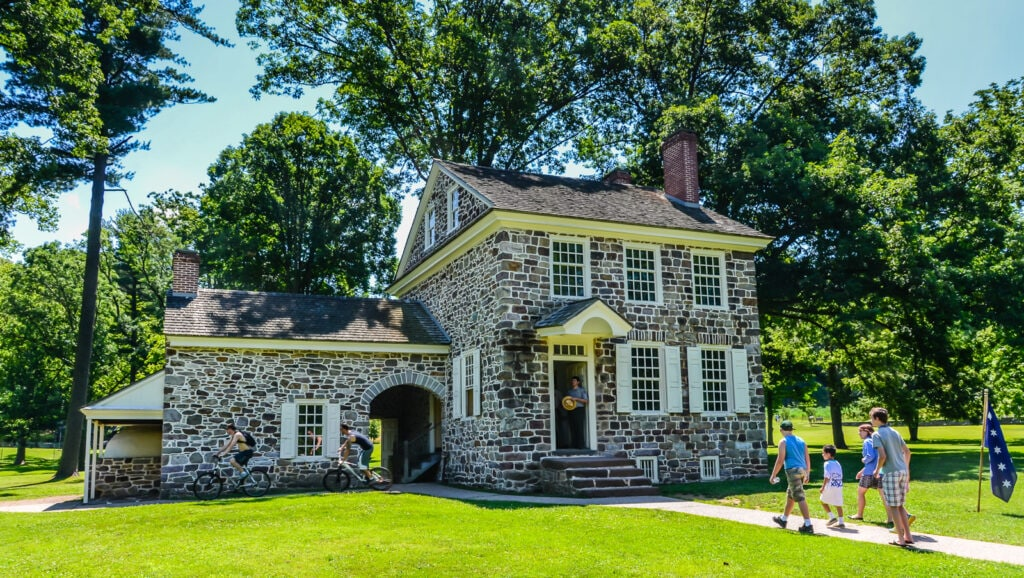 Stone building of Washingtons Headquarters at Valley Forge National Historical Park