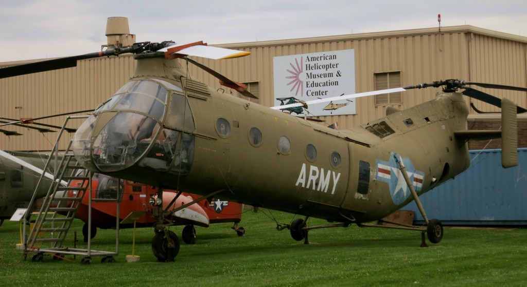 Army Helicopter outside of one of the largest collections of helicopters in the USA