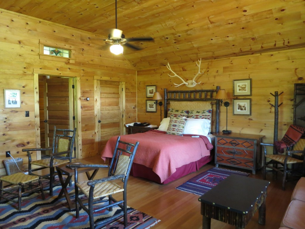 Inside Halcyon House; One of 7 cabins at Dartbrook Lodge, Keene, NY