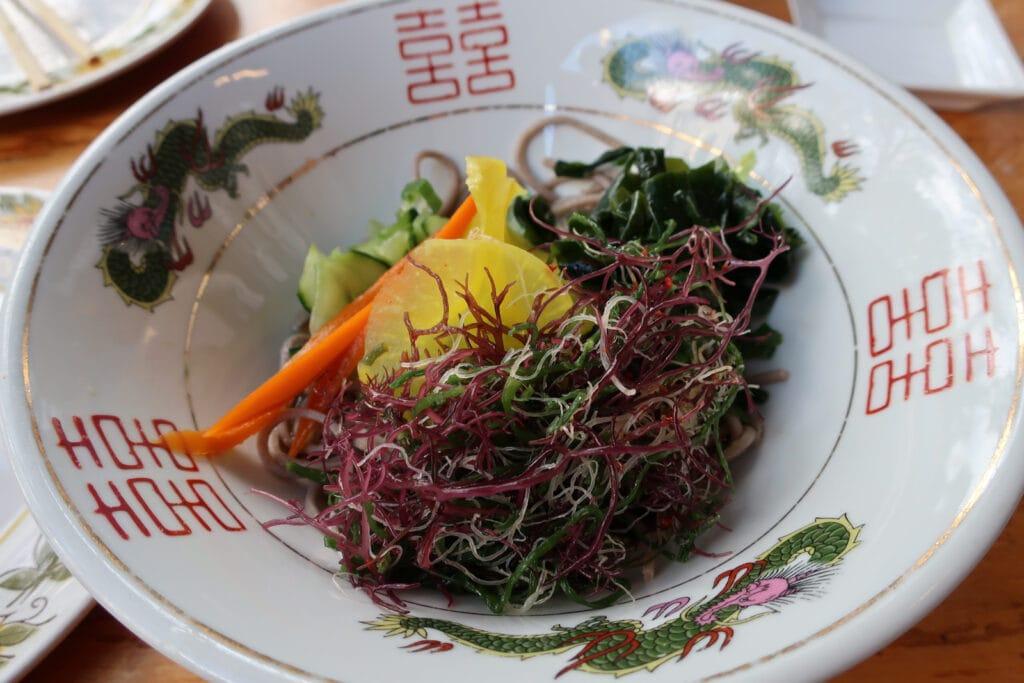 Salad and Soba Noodles Miya's New Haven CT