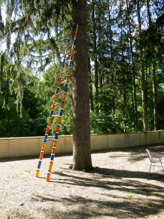 One of six colorful ladders in sculpture garden of Katonah Museum of Art, NY