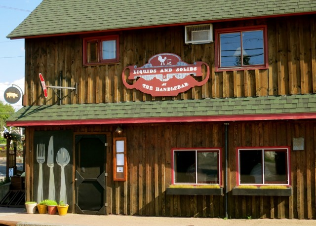 Exterior shot of new farm to table, craft beer restaurant in Lake Placid, NY