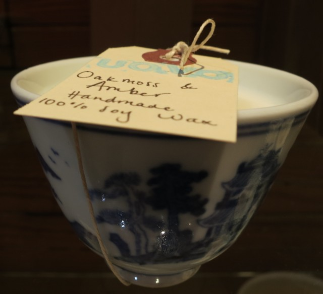 Soy scented candle in Chinese tea cup - Ouvo Moderno in Katonah, NY