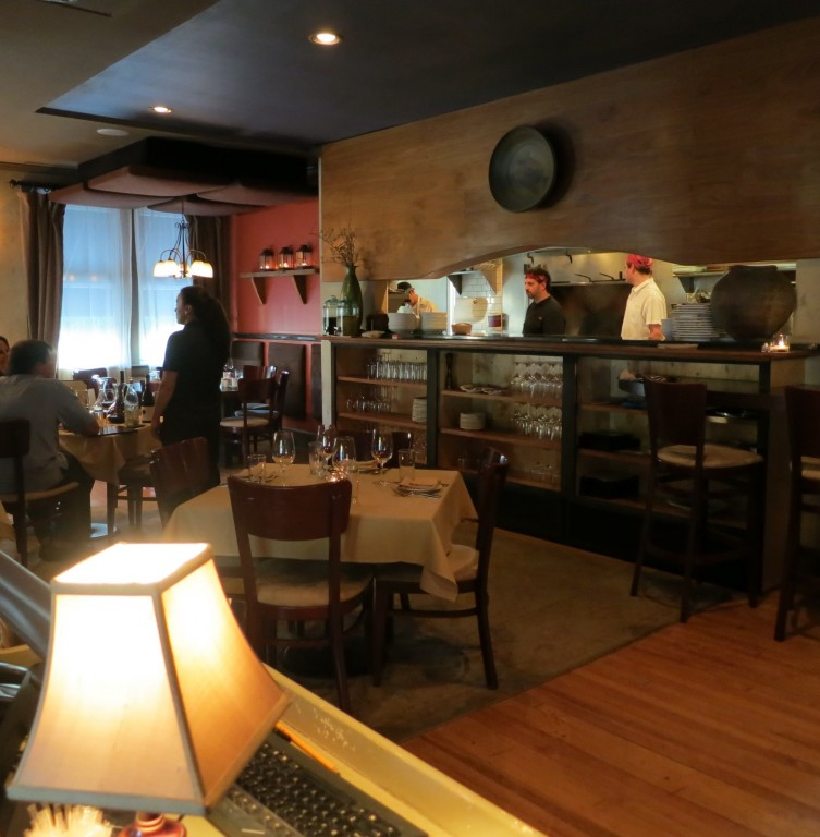 Interior of farm to table Restaurant Alba, Malvern, PA