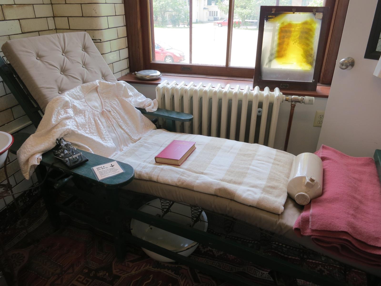 Cure Chair On Exhibit At The Historic Saranac Lake Laboratory, Saranac Lake,  NY