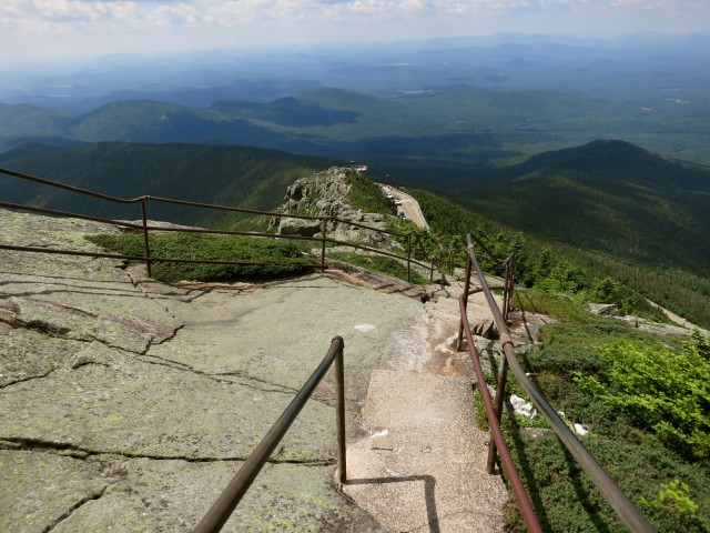 On top of the rocks; Whiteface Veterans Memorial Highway in the Adirondacks