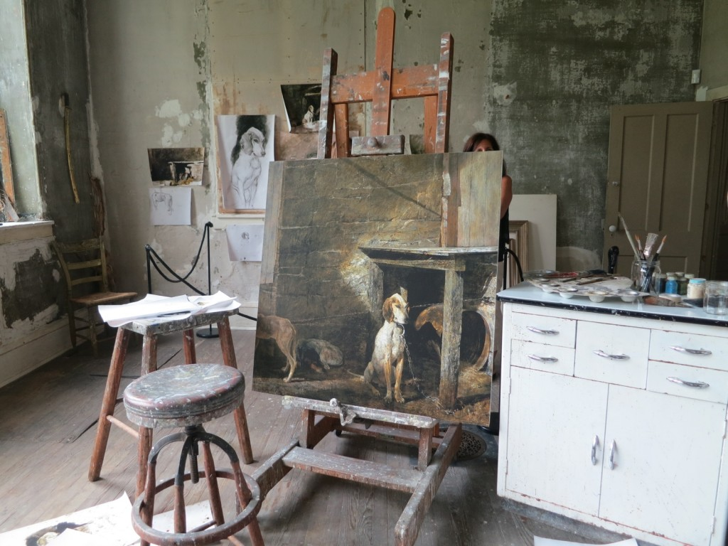 Wyeth Studio Interior display