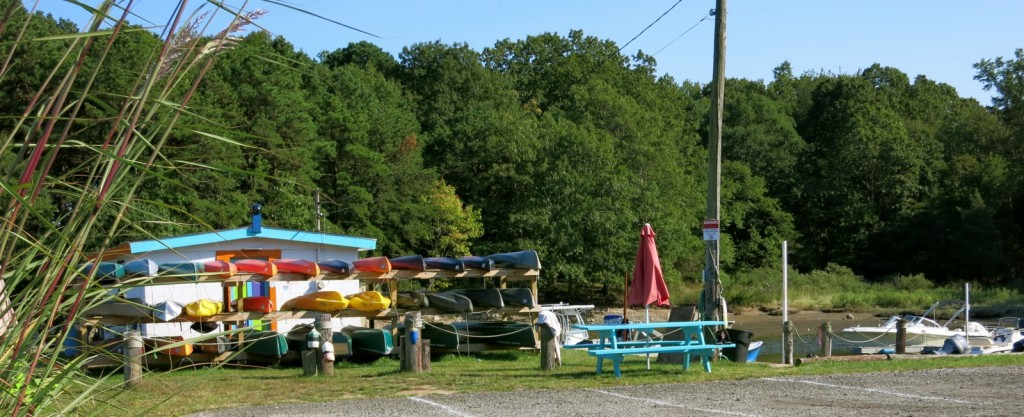 Kayak rentals at Black Hall Marina on the Black Hall River in Old Lyme, CT