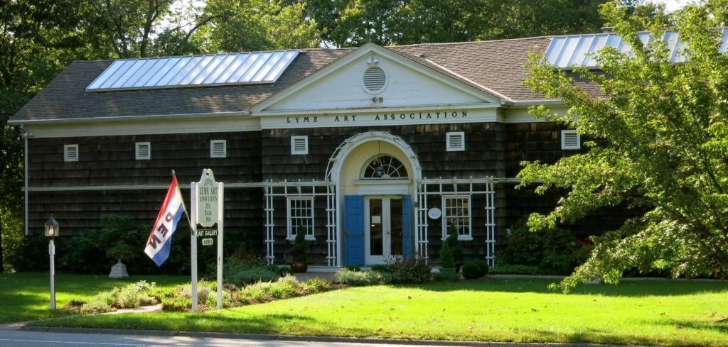 Exterior shot of Lyme Art Association headquarters, Old Lyme CT
