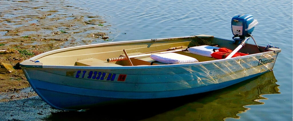 Rowboat in water Old Lyme CT