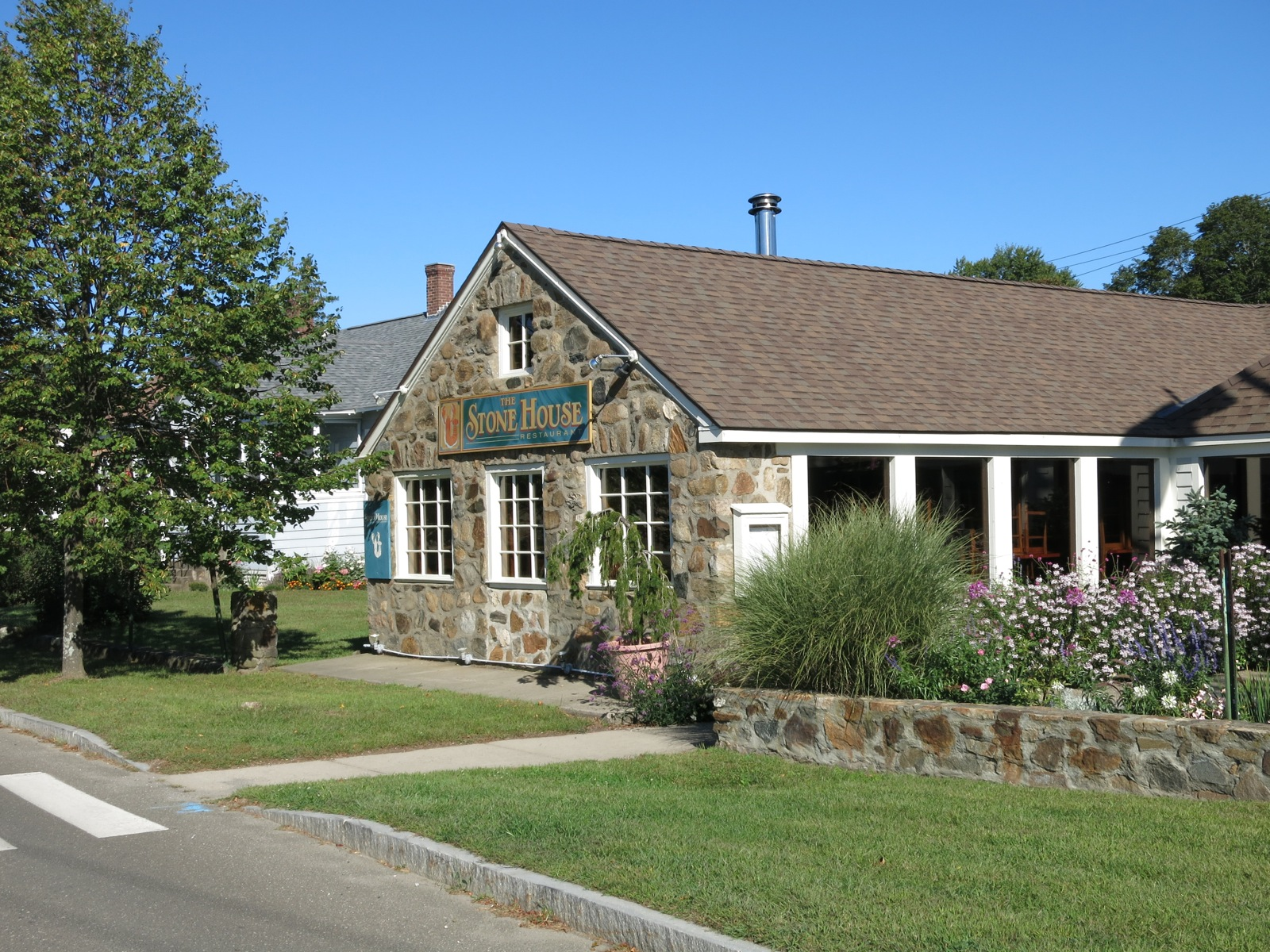 Eat at the Stonehouse Restaurant on a weekend getaway in Guilford CT.