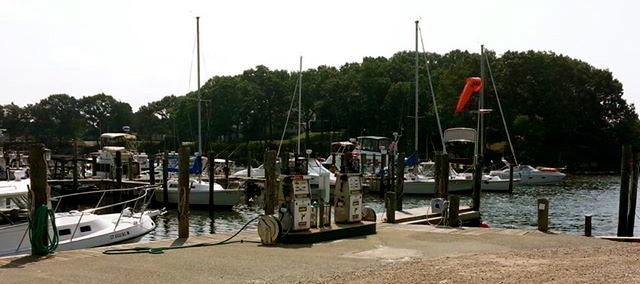 The hidden Three Belles Marina in Smith Cove, Niantic Ct - one of the prettiest hurricane holes on the East Coast