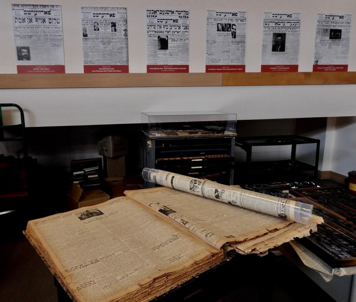 Century old Yiddish newspaper Yiddish Book Center Amherst MA