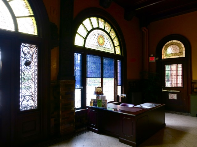 Tiffany Windows illuminate the George Walter Vincent Smith Museum in Springfield MA