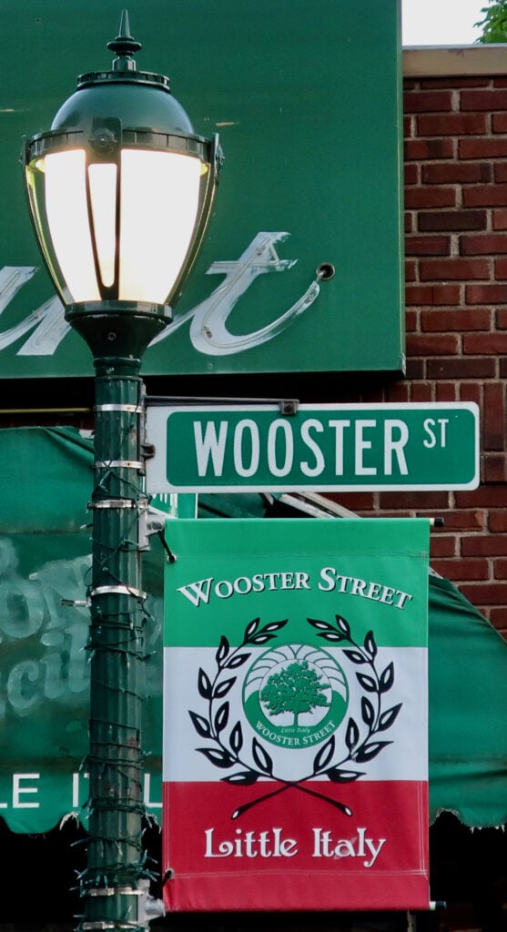 Wooster St. Sign New Haven CT