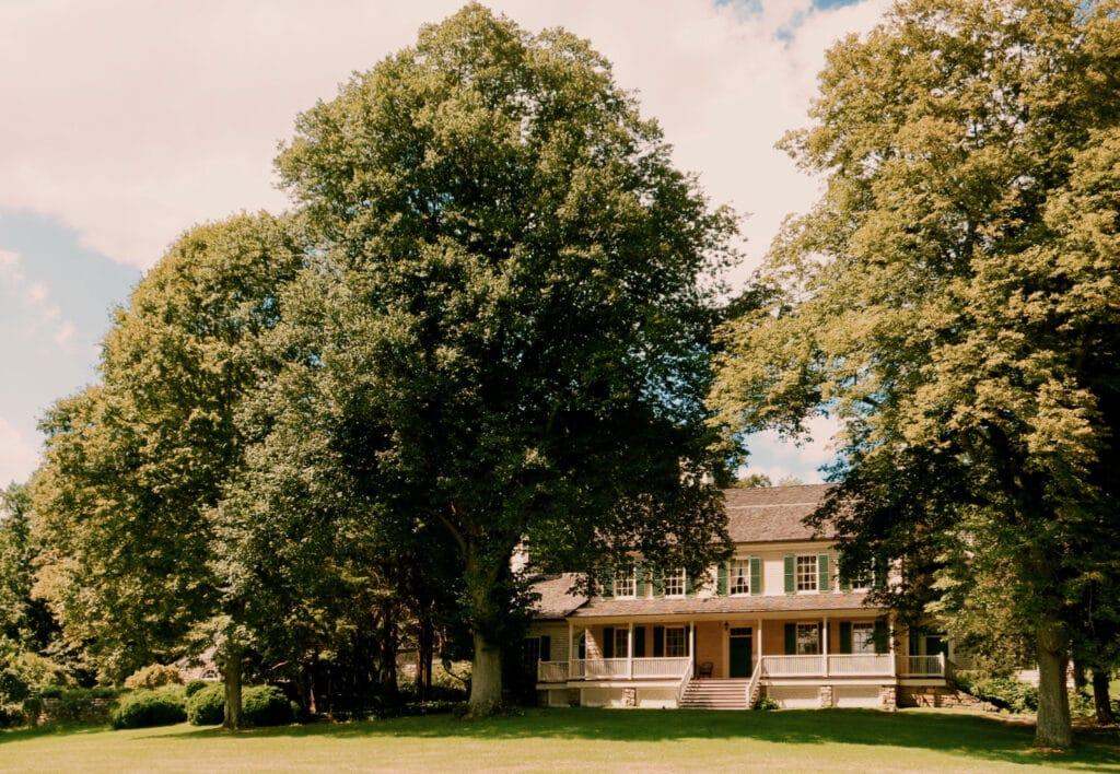 Exterior view of John Jay Homestead Katonah NY