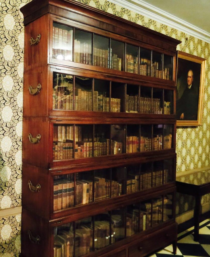 Justice John Jays Portable Barrister Bookcase at John Jay Homestead Katonah NY