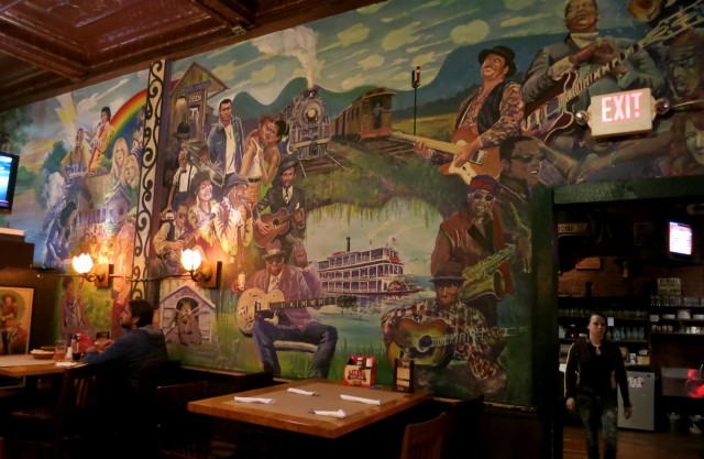 Mural on the wall of Theodore's Booze Blues and BBQ, Springfield MA