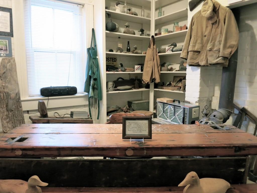 Duck Decoy Carving room, Atlantic Wildfowl Heritage Museum, Virginia Beach VA