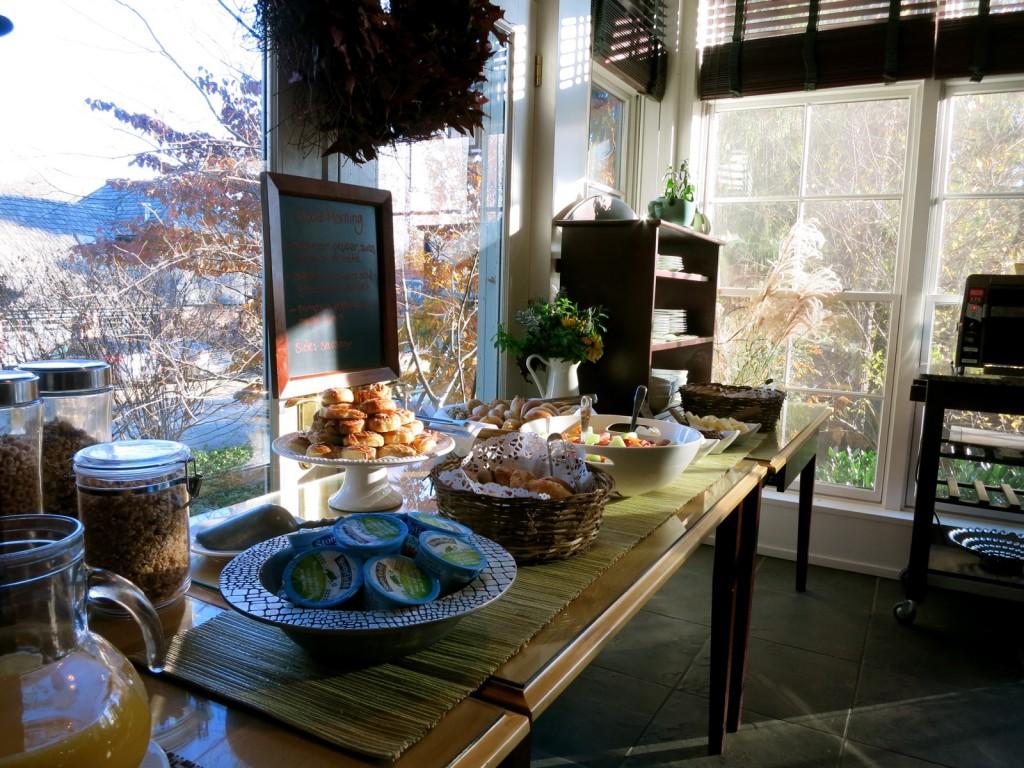 Breakfast at Buttermilk Falls Inn, Milton NY