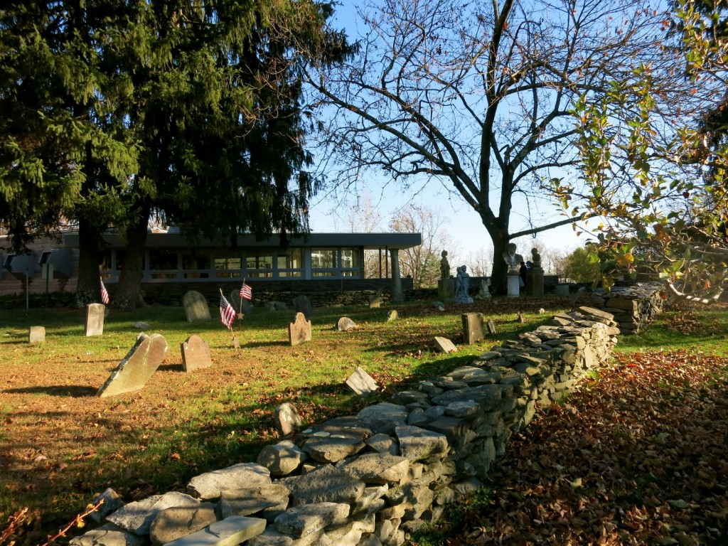 1700s Cemetery on property of Buttermilk Falls Inn, Milton NY in Hudson Valley