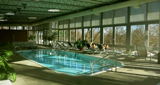 Pool in Spa Building at Buttermilk Falls Inn and Spa, Milton NY in Hudson Valley