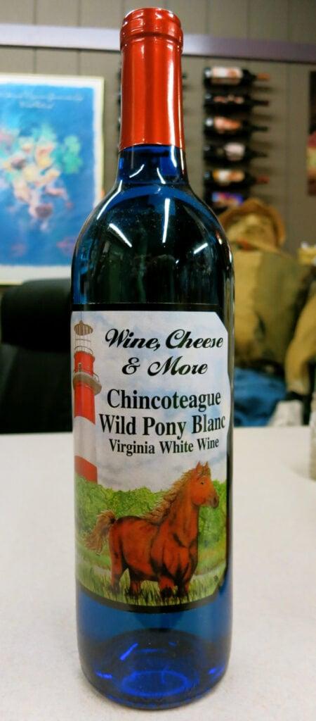 Bottle of Chincoteague Wild Pony Blanc