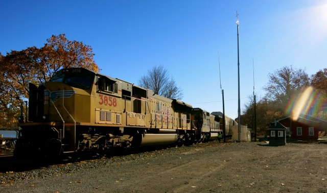 Union Pacific Freight Train at Historic Milton, NY Train Station
