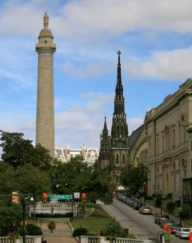 Washington Monument, Mount Vernon Neighborhood, Baltimore MD